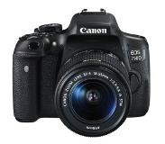 Canon EOS 750D + EF-S 18-55mm IS STM + CS100 24.2MP CMOS 6000 x 4000Pixels Zwart