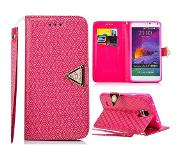 Carryme Diamond series roze luxe booktype hoes Samsung Galaxy Note 4