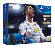 PLAYSTATION GAMES PS4 Slim 1 TB Zwart + FIFA 18 + extra controller (9915669)