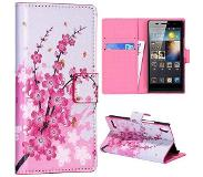 Carryme Flowers bookcase hoesje Huawei Ascend P6 / P6s