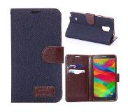 Carryme Blauwe denim booktype hoes Samsung Galaxy Note 4