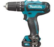 Makita HP331DSAJ 10.8V Li-Ion accu klopboor-/schroefmachine set (2x 2.0Ah accu) in Mbox