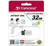 Transcend JetFlash 380S 32GB USB flash drive USB Type-A 2.0 Zilver
