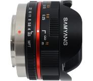 "Samyang 7.5mm f/3.5 UMC Fisheye MILC Groothoeklens type ""fish eye"" Zwart"