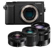 Panasonic Lumix DMC-GX80 + 12-32mm + 35-100mm + 25mm zwart