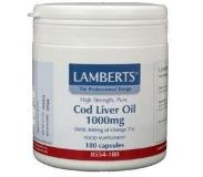 Lamberts Levertraan (Cod Liver Oil) 1000 Mg (180ca)