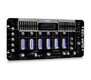 Ibiza Sound DJM-102 4-kanaals-mixer LED Echo effecten Battle Prof