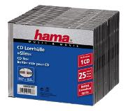 Hama Cd Slim Box, Black, Pack Of 25 Pcs
