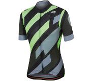 Sportful Fietsshirt Sportful Men Volt Jersey Black Green Fluo-XXXL