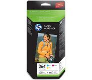 HP 364 Series Photo Value Pack-85 sht/10 x 15 cm Original Cyaan, Magenta, Geel Multipack 1 stuk(s)