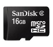 SanDisk MicroSDHC 16GB Class 4 Geheugenkaart + SD-adapter