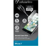 Cellularline Second Glass Ultra screenprotector voor iPhone 7 Transparant