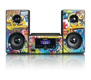 Lenco MC-020 Home audio mini system 10W Multi kleuren