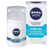 Nivea MEN Sensitive Hydro Gel Gezichtsgel - 50 ml