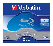Verbatim 1x5 BD-R Blu-Ray 25GB 6x Speed Jewel Case