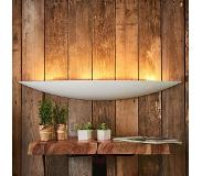 Lampenwelt.com Grote gips wandlamp Tommi in wit
