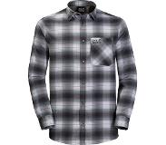 Jack Wolfskin Light Valley Fietsshirt Korte Mouwen Heren, ebony checks 3XL 2019 Overhemden lange mouw