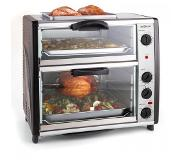 OneConcept All-You-Can-Eat Dubbele oven met grillplaat 42 liter 2400 W