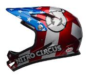 Bell Fietshelm Bell Sanction Red Silver Blue Nitro Circus-57 - 58 cm