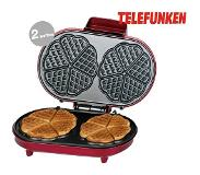 Telefunken Wafelmaker DUO 1000W met thermostaat