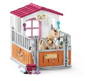 Schleich - Horse Stall with Arab Horses and Groom (42369)