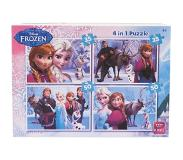 King international Puzzel Frozen 4In1 2X 35 Stukjes, 2X 50 Stukjes