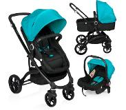Little World City Walker Combi Kinderwagen Zwart-Blauw (incl. autostoel)