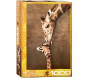 Eurographics puzzel Giraffe Mother's Kiss - 1000 stukjes