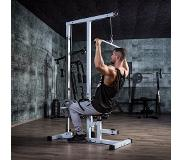 Gorilla Sports Lat Pulley Station incl. kabels, lange en korte stang