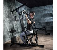 Gorilla Sports Krachtstation staal/faux leer (Full body training)