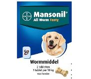 Mansonil All Worm Dog Tasty Small/Medium - Anti wormenmiddel