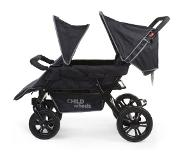 Childwheels Vierlingbuggy Two By Two zwart CWTB2