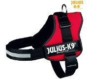 Julius-K9 Powerharness Rood - Hondenharnas