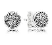 Pandora Silver stud earrings with clear cubic zirconia, 6 mm 290726CZ