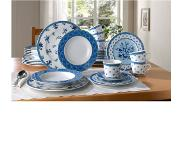 Creatable 18-delig koffieservies COUNTRY BLUE Creatable blauw/wit