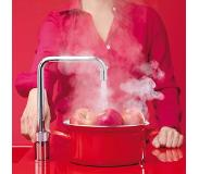 Quooker Nordic Square Twin Taps Chroom met Combi+