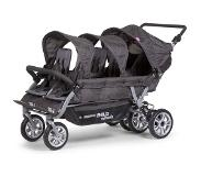 Childwheels - SIX SEATER WANDELWAGEN ANTHRACITE MET REM +RC+SC