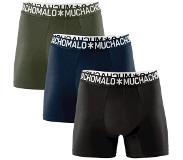 Muchachomalo 3-PACK COTTON SOLID BLACK, NAVY. GREEN, Large (Zwart, Blauw, Groen, Navy, L)