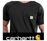 Carhartt 100410 Force Cotton Delmont T-Shirt - Relaxed Fit - Black - M