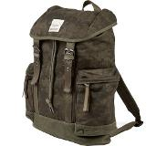 Lyle & Scott Waxed Canvas Day Backpack dark sage print