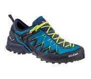 Salewa Wildfire Edge Schoenen Heren, premium navy/fluo yellow 2020 UK 9 | EU 43 Trekking- & Wandelschoenen