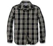 Carhartt Blouse Carhartt Men L/S Essential Open Collar Shirt Plaid Black-S