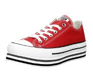 Converse female All Star Platform Layer Rood
