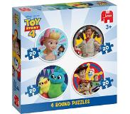 Jumbo ToyStory 4 - 4in1 round Puzzle