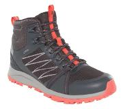 The North Face Wandelschoen The North Face Women Low Fastpack II Mid GTX Ebony Grey Fiesta Red-Schoenmaat 39,5