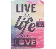 Smartphonehoesjes.nl Design Softcase Bookcase voor iPad Mini / 2 / 3 - Live the Life
