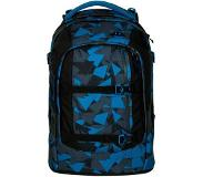 Satch Pack School Rugzak blue triangle Blauw