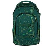 Satch Pack School Rugzak green compass Groen