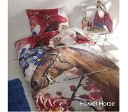 Day dream Flower horse - dekbedovertrek - eenpersoons - 140 x 200 - Multi