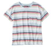 Abercrombie & Fitch Shirt 'SB19-SS DROP SHOULDER TEE STRIPE'